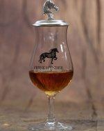 Frysk Hynder Whisky glass and tin lid